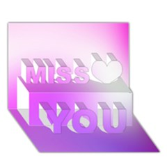 Purple White Background Bright Spots Miss You 3d Greeting Card (7x5)