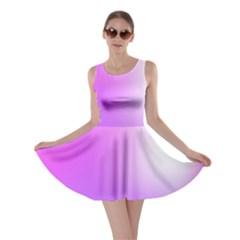 Purple White Background Bright Spots Skater Dress
