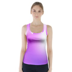 Purple White Background Bright Spots Racer Back Sports Top