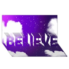 Purple Cloud Believe 3d Greeting Card (8x4)