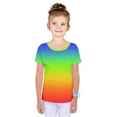 Rainbow Blue Green Pink Orange Kids  One Piece Tee