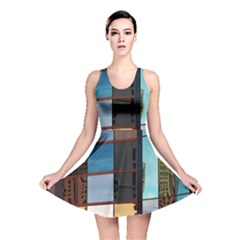 Glass Facade Colorful Architecture Reversible Skater Dress