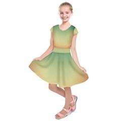 Smooth Gaussian Kids  Short Sleeve Dress
