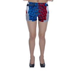 Red Boxing Gloves And A Competing Skinny Shorts