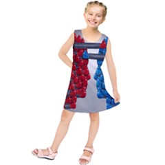 Red Boxing Gloves And A Competing Kids  Tunic Dress