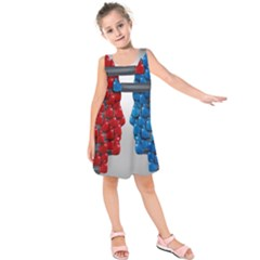 Red Boxing Gloves And A Competing Kids  Sleeveless Dress