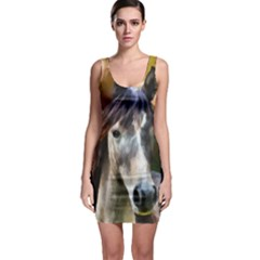 Horse Portrait Animal Sleeveless Bodycon Dress
