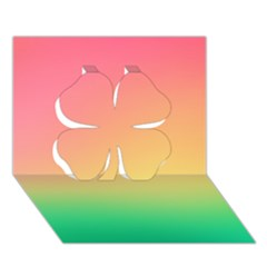 The Walls Pink Green Yellow Clover 3d Greeting Card (7x5)