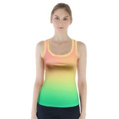 The Walls Pink Green Yellow Racer Back Sports Top