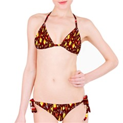 Wine Glass Drink Party Bikini Set