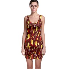 Wine Glass Drink Party Sleeveless Bodycon Dress