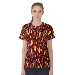 Wine Glass Drink Party Women s Cotton Tee