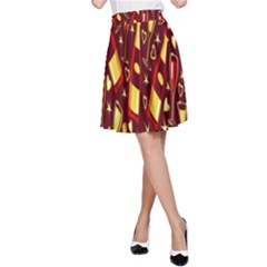 Wine Glass Drink Party A-Line Skirt