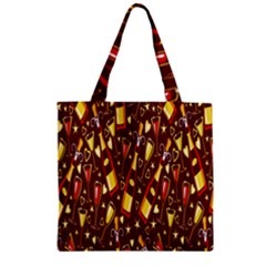 Wine Glass Drink Party Zipper Grocery Tote Bag
