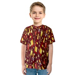 Wine Glass Drink Party Kids  Sport Mesh Tee