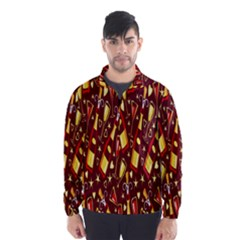 Wine Glass Drink Party Wind Breaker (Men)