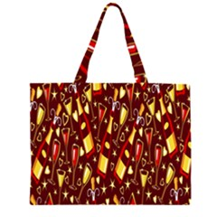 Wine Glass Drink Party Zipper Large Tote Bag