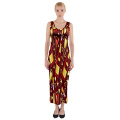 Wine Glass Drink Party Fitted Maxi Dress