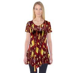 Wine Glass Drink Party Short Sleeve Tunic