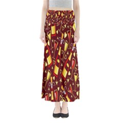 Wine Glass Drink Party Maxi Skirts