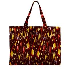 Wine Glass Drink Party Medium Zipper Tote Bag