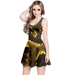 Pattern Skins Snakes Reversible Sleeveless Dress