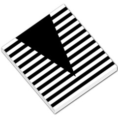 Black & White Stripes Big Triangle Small Memo Pads