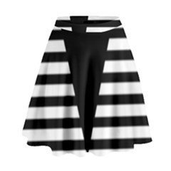 Black & White Stripes Big Triangle High Waist Skirt