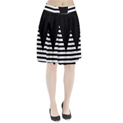 Black & White Stripes Big Triangle Pleated Skirt