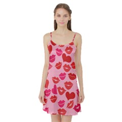 Valentine s Day Kisses Satin Night Slip