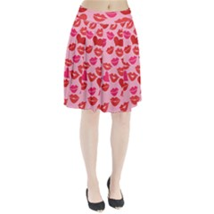 Valentine s Day Kisses Pleated Skirt