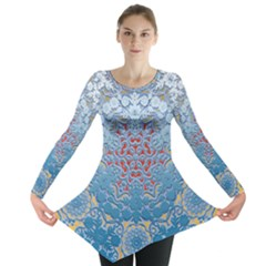 Pattern Background Pattern Tile Long Sleeve Tunic