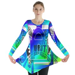 Security Castle Sure Padlock Long Sleeve Tunic
