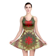 Tile Background Image Color Pattern Reversible Skater Dress