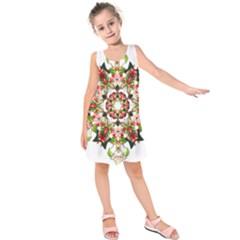 Tile Background Image Star Pattern Kids  Sleeveless Dress