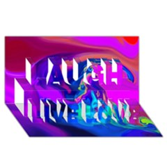The Perfect Wave Pink Blue Red Cyan Laugh Live Love 3d Greeting Card (8x4)