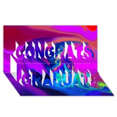 The Perfect Wave Pink Blue Red Cyan Congrats Graduate 3d Greeting Card (8x4)