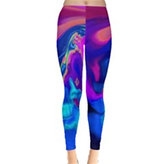 The Perfect Wave Pink Blue Red Cyan Leggings