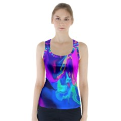 The Perfect Wave Pink Blue Red Cyan Racer Back Sports Top