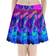 The Perfect Wave Pink Blue Red Cyan Pleated Mini Skirt