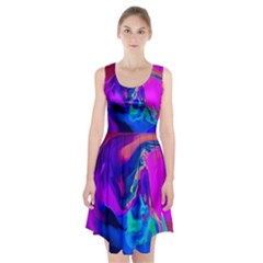 The Perfect Wave Pink Blue Red Cyan Racerback Midi Dress