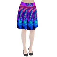 The Perfect Wave Pink Blue Red Cyan Pleated Skirt