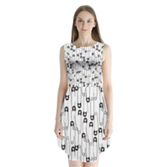 Safety Pin Pattern Sleeveless Chiffon Dress