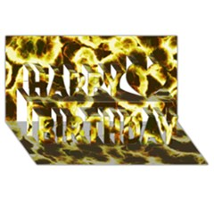 Abstract Pattern Happy Birthday 3d Greeting Card (8x4)