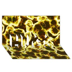 Abstract Pattern Hugs 3d Greeting Card (8x4)