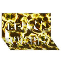 Abstract Pattern Best Wish 3D Greeting Card (8x4)
