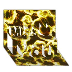 Abstract Pattern Miss You 3D Greeting Card (7x5)