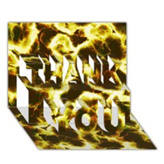 Abstract Pattern THANK YOU 3D Greeting Card (7x5)