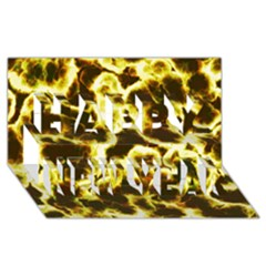 Abstract Pattern Happy New Year 3D Greeting Card (8x4)