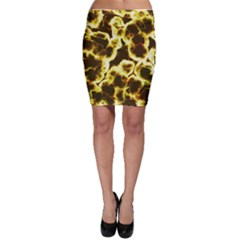 Abstract Pattern Bodycon Skirt